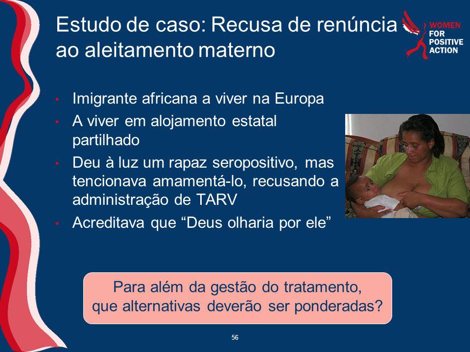 Estudo de caso: Recusa de renúncia ao aleitamento materno