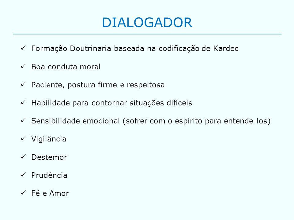 DIALOGADOR Formação Doutrinaria baseada na codificação de Kardec