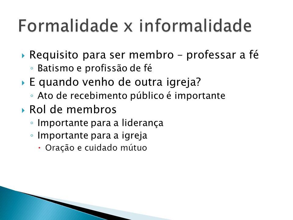 Formalidade x informalidade