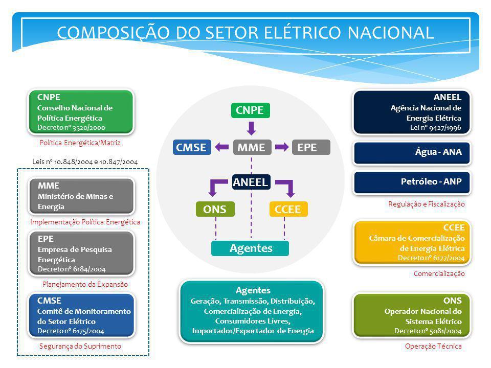 COMPOSIÇÃO DO SETOR ELÉTRICO NACIONAL
