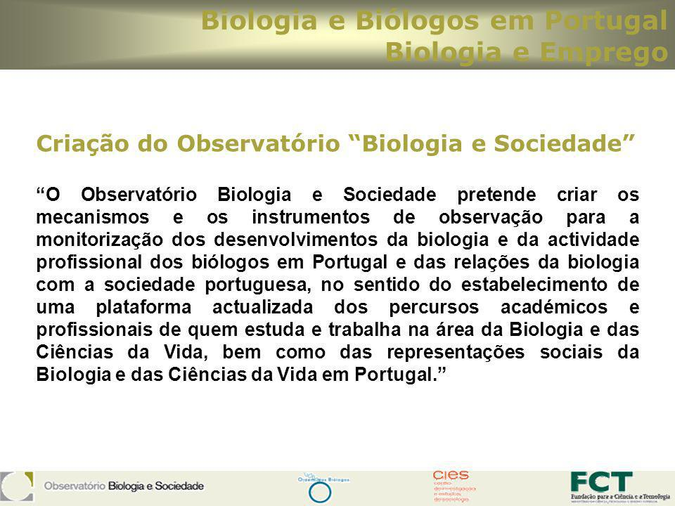 Biologia e Biólogos em Portugal Biologia e Emprego