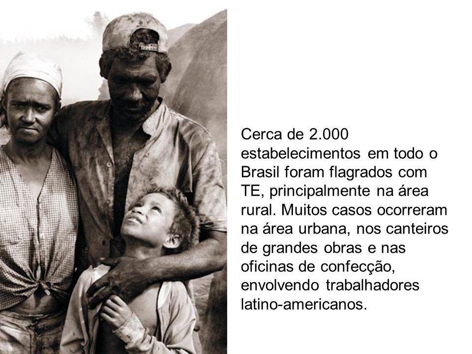 Cerca de 2.000 estabelecimentos em todo o Brasil foram flagrados com TE, principalmente na área rural.
