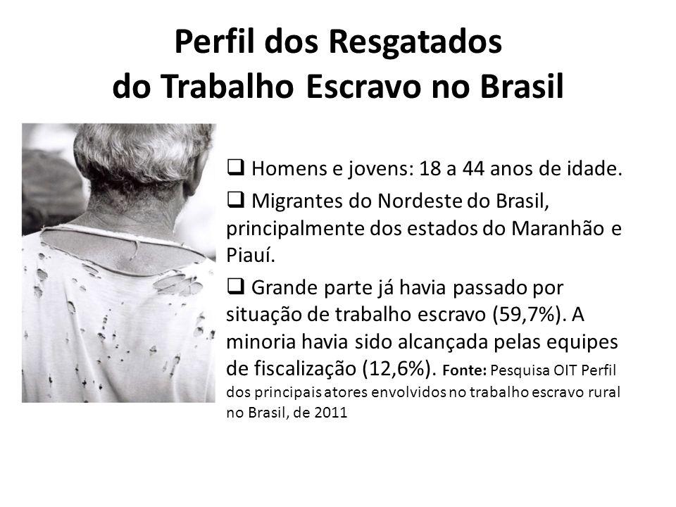 Perfil dos Resgatados do Trabalho Escravo no Brasil