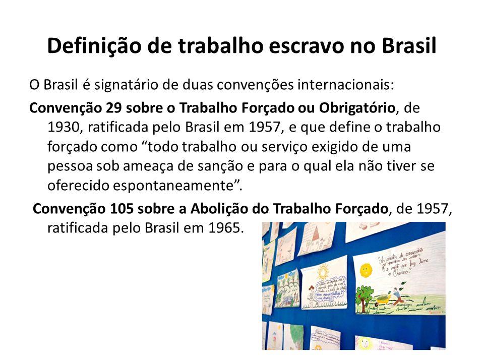Definição de trabalho escravo no Brasil