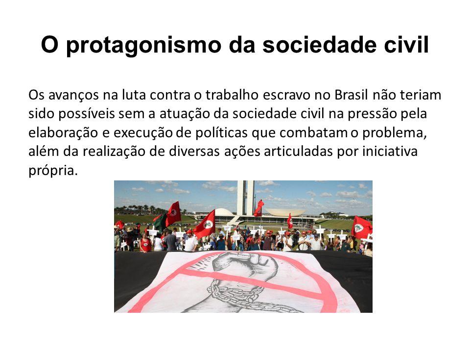 O protagonismo da sociedade civil