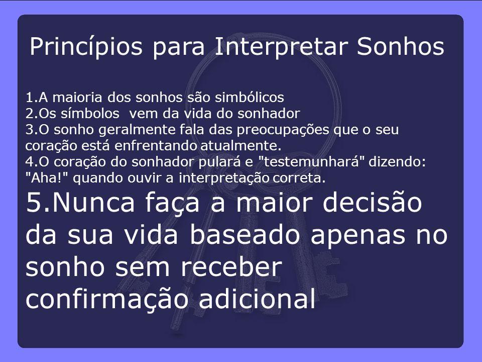 Princípios para Interpretar Sonhos