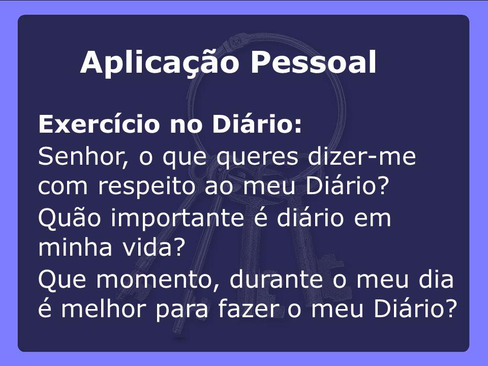 Aplicação Pessoal Exercício no Diário: