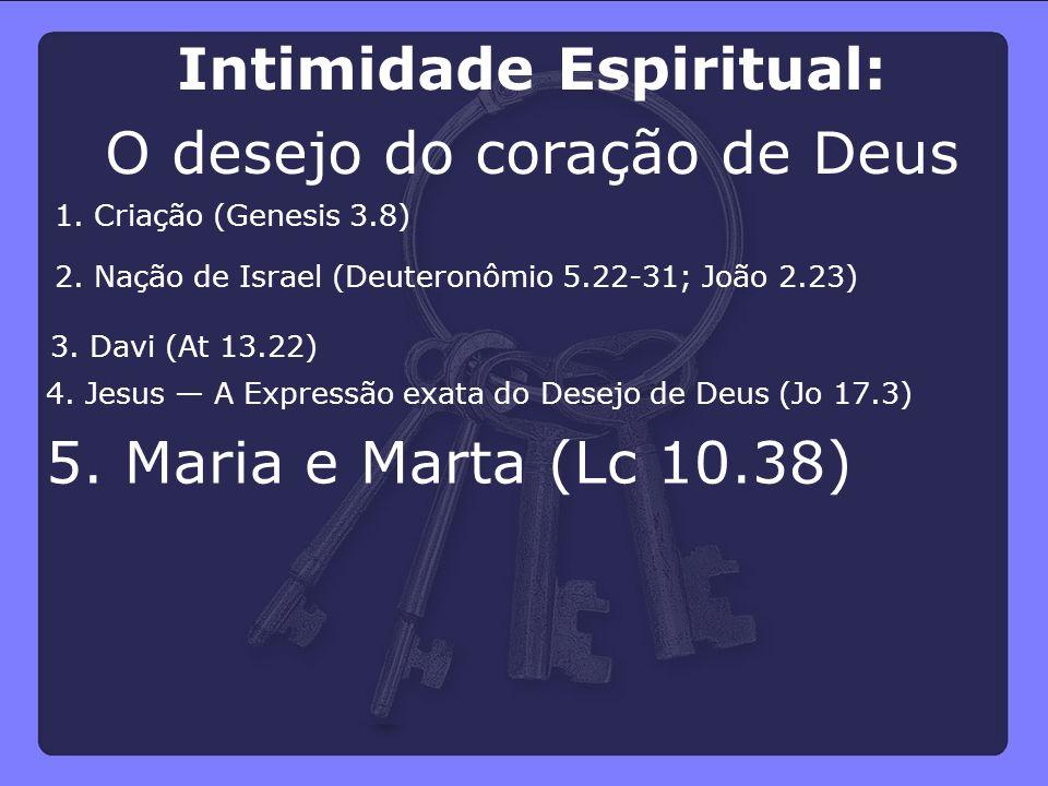 Intimidade Espiritual: O desejo do coração de Deus