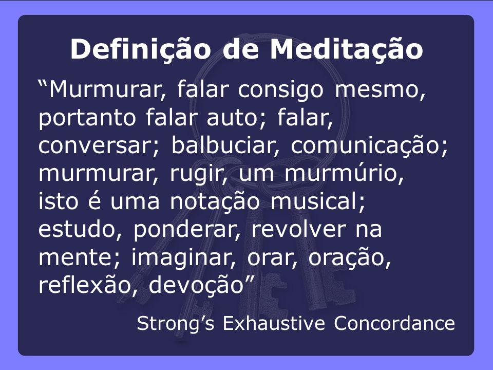 Definição de Meditação