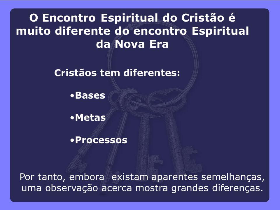O Encontro Espiritual do Cristão é muito diferente do encontro Espiritual da Nova Era