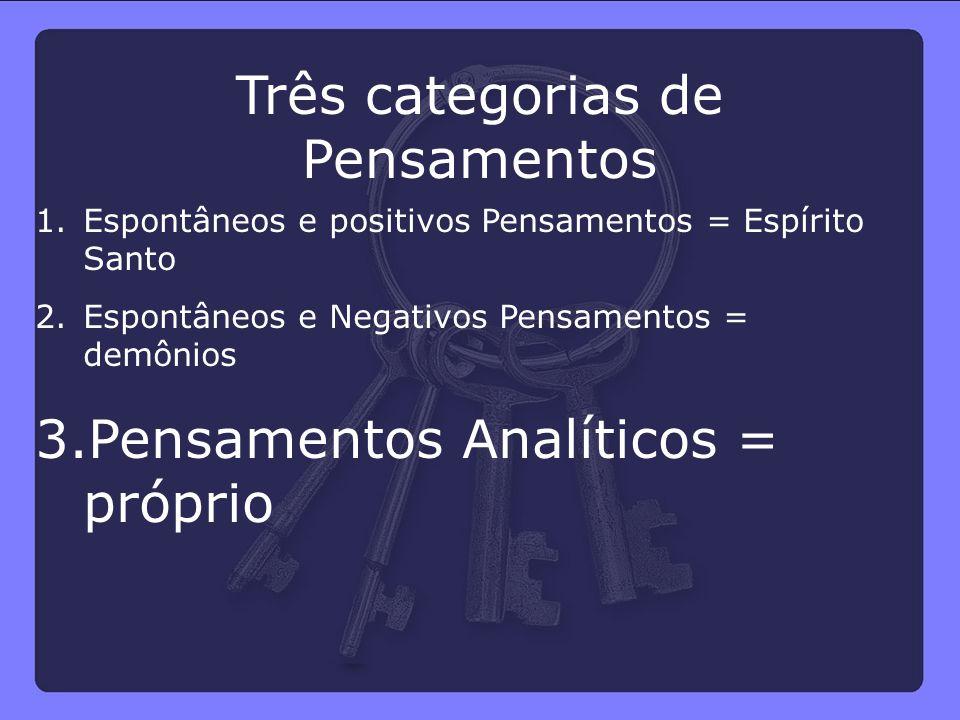 Três categorias de Pensamentos