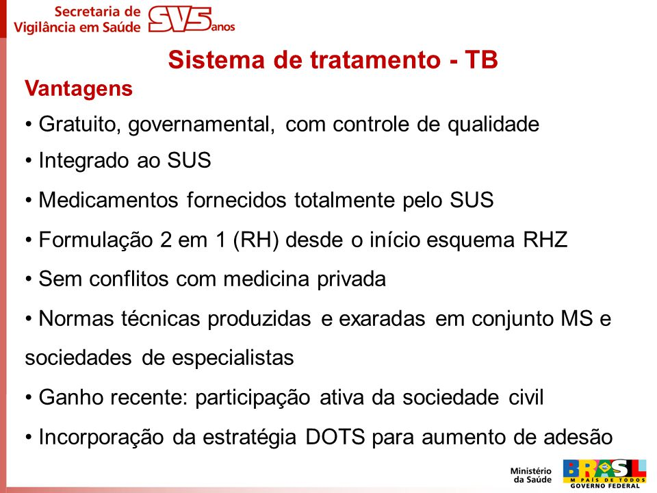 Sistema de tratamento - TB