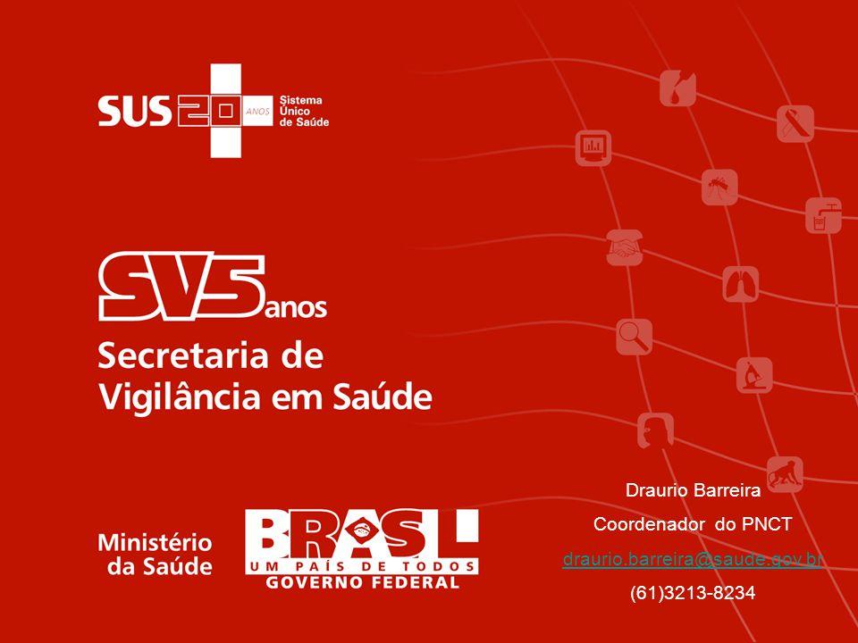 Draurio Barreira Coordenador do PNCT draurio.barreira@saude.gov.br