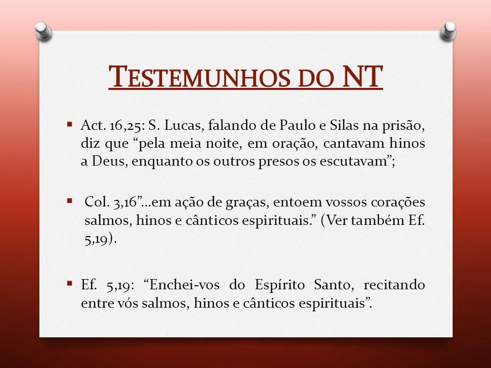 Testemunhos do NT