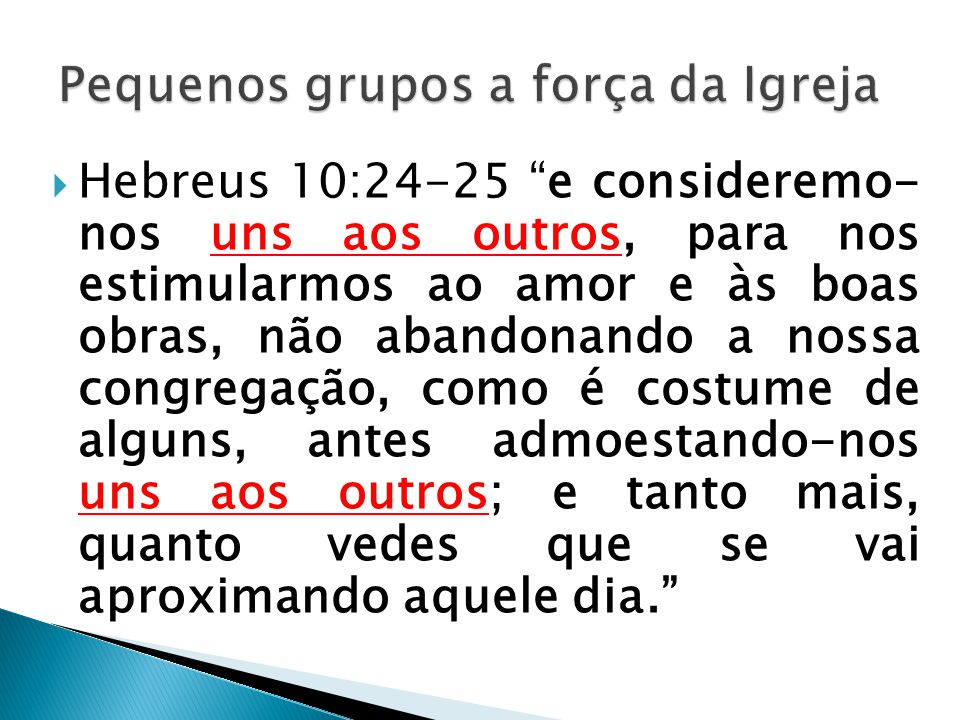 Pequenos grupos a força da Igreja