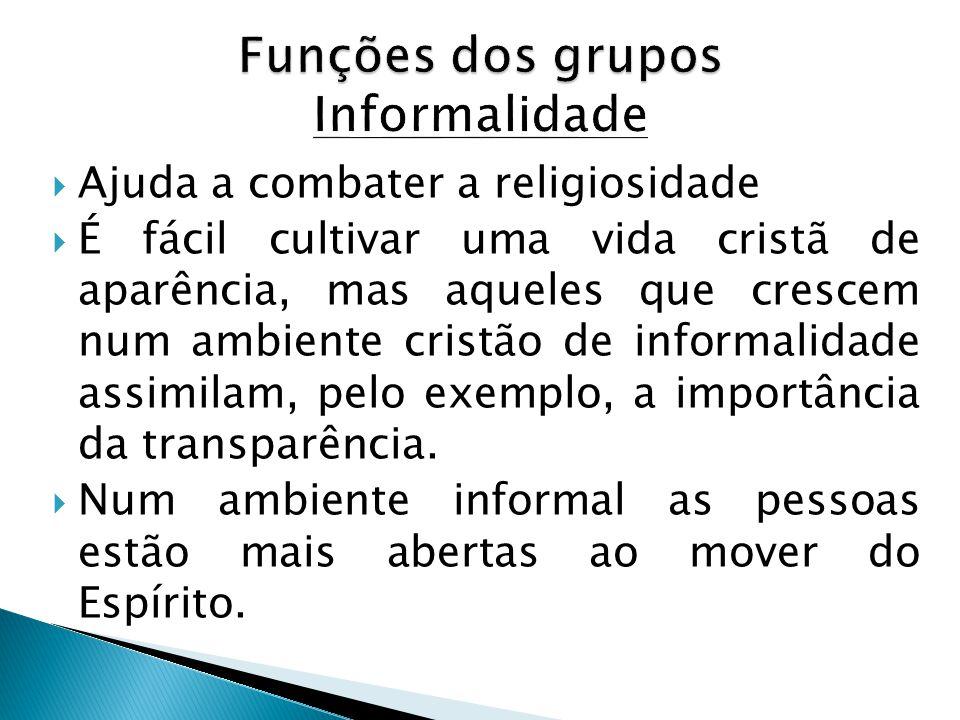 Funções dos grupos Informalidade