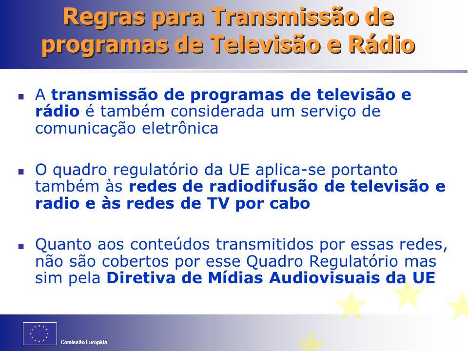 Regras para Transmissão de programas de Televisão e Rádio
