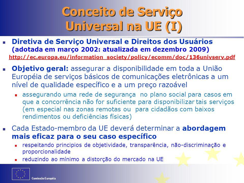 Conceito de Serviço Universal na UE (I)
