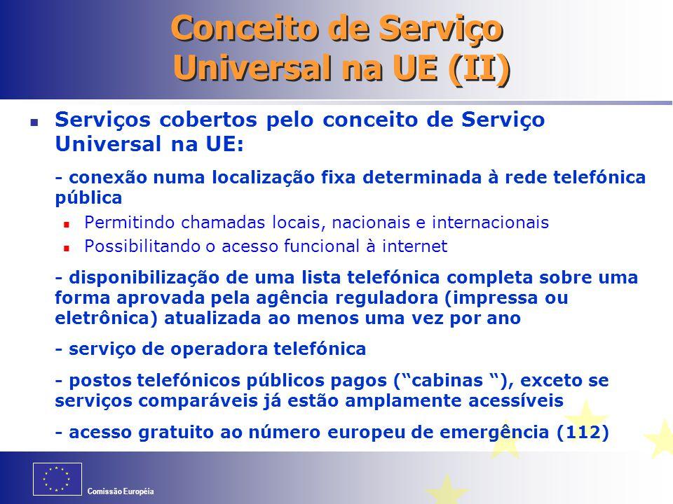 Conceito de Serviço Universal na UE (II)
