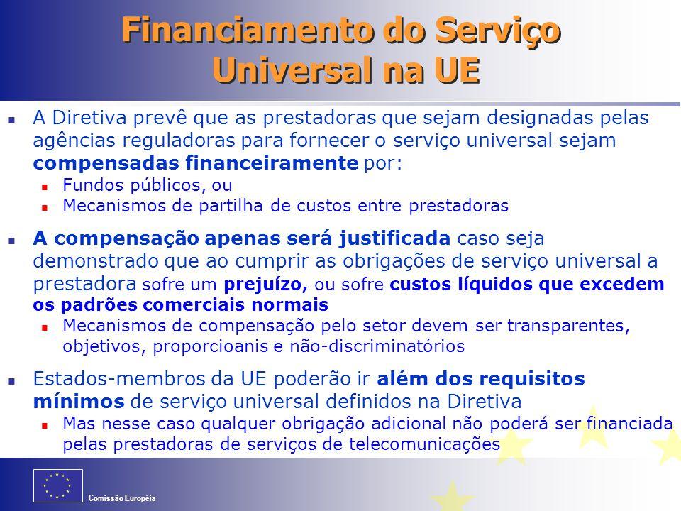 Financiamento do Serviço Universal na UE