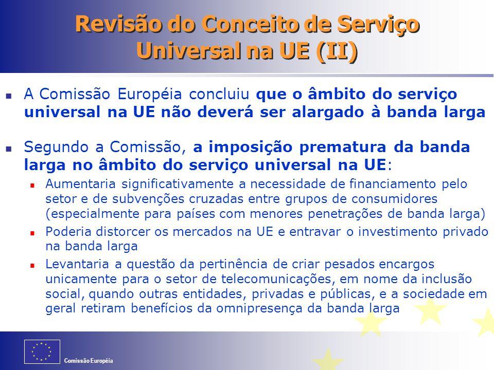 Revisão do Conceito de Serviço Universal na UE (II)