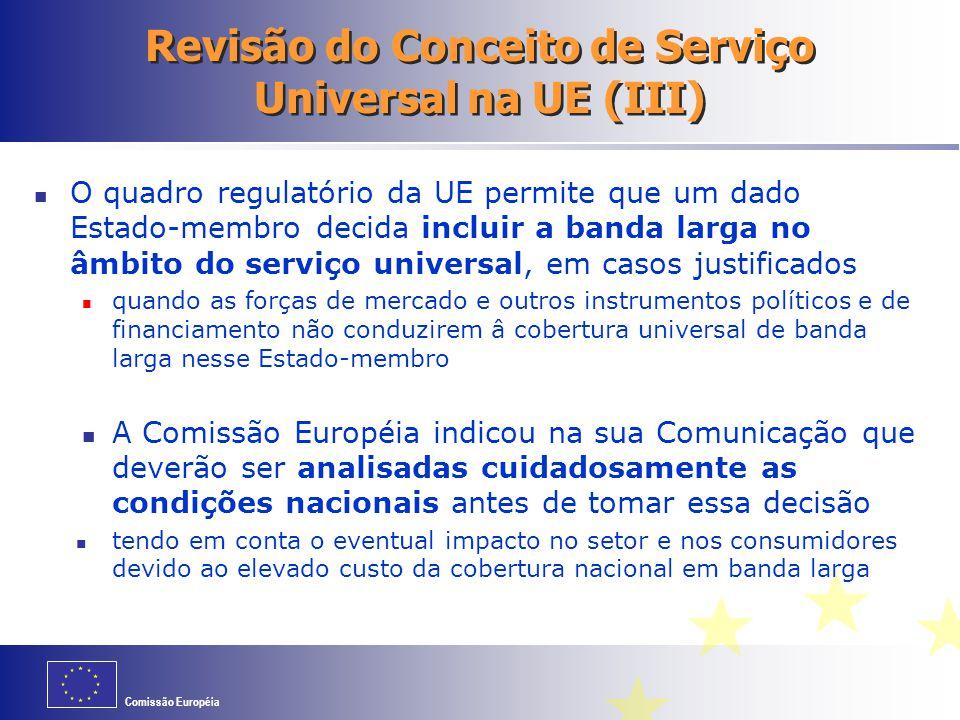 Revisão do Conceito de Serviço Universal na UE (III)