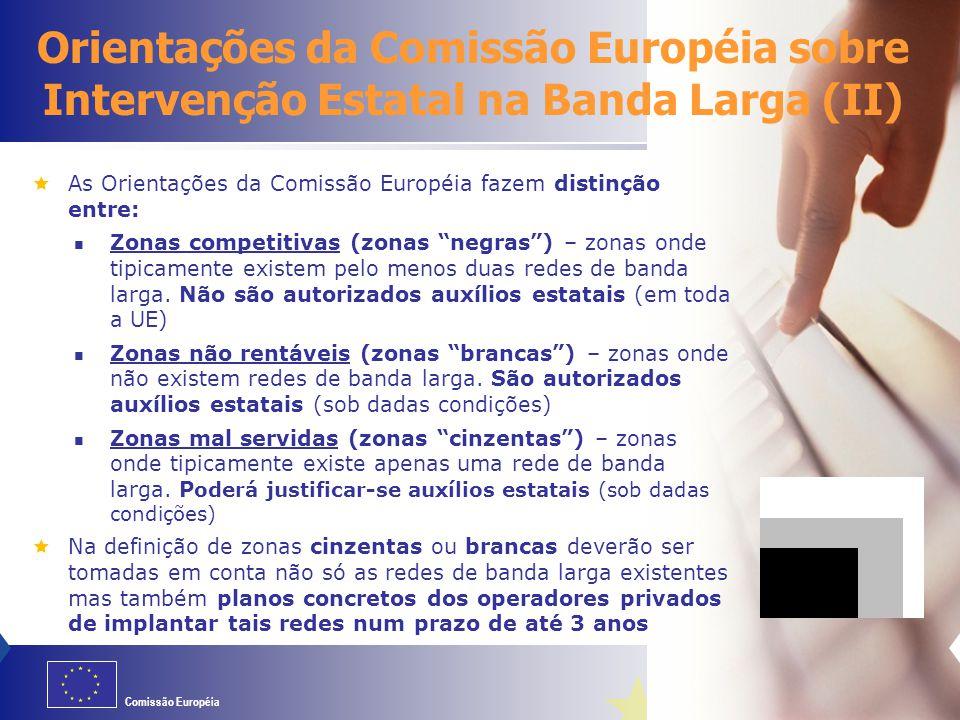 06/04/2017 Orientações da Comissão Européia sobre Intervenção Estatal na Banda Larga (II)