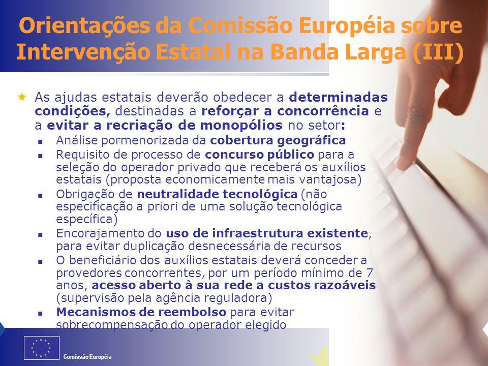 06/04/2017 Orientações da Comissão Européia sobre Intervenção Estatal na Banda Larga (III)