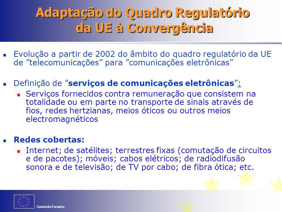 Adaptação do Quadro Regulatório da UE à Convergência