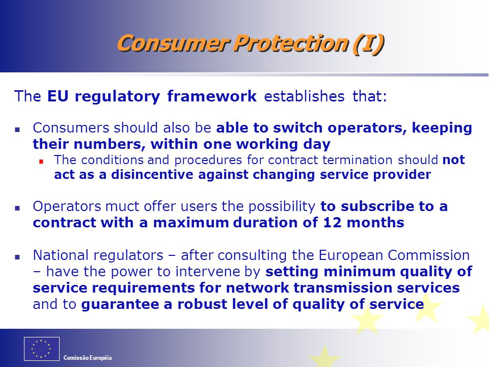 Consumer Protection (I)
