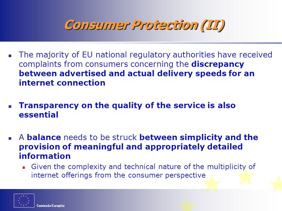 Consumer Protection (II)