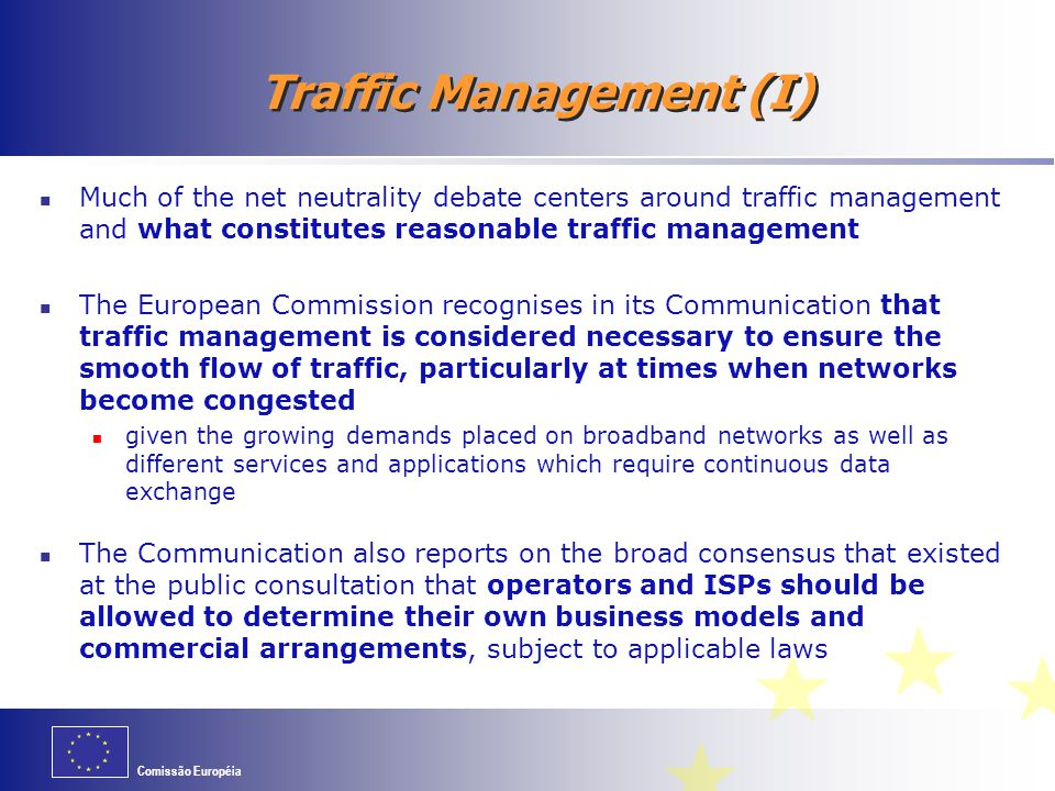 Traffic Management (I)