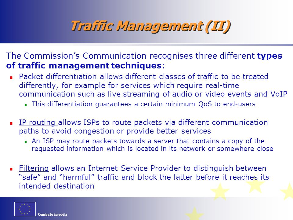 Traffic Management (II)