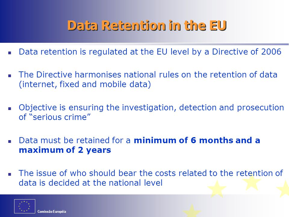 Data Retention in the EU