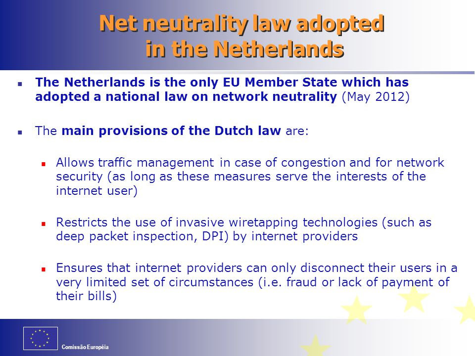 Net neutrality law adopted in the Netherlands