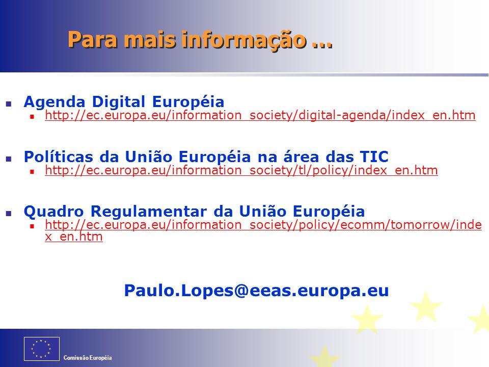 Para mais informação … Paulo.Lopes@eeas.europa.eu