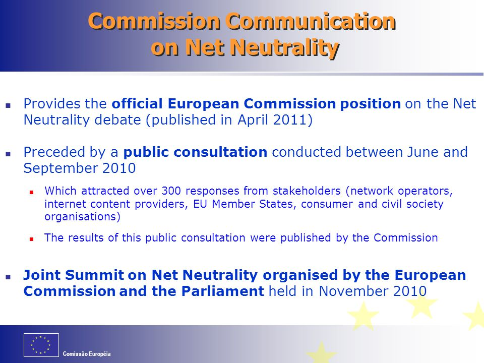 Commission Communication on Net Neutrality