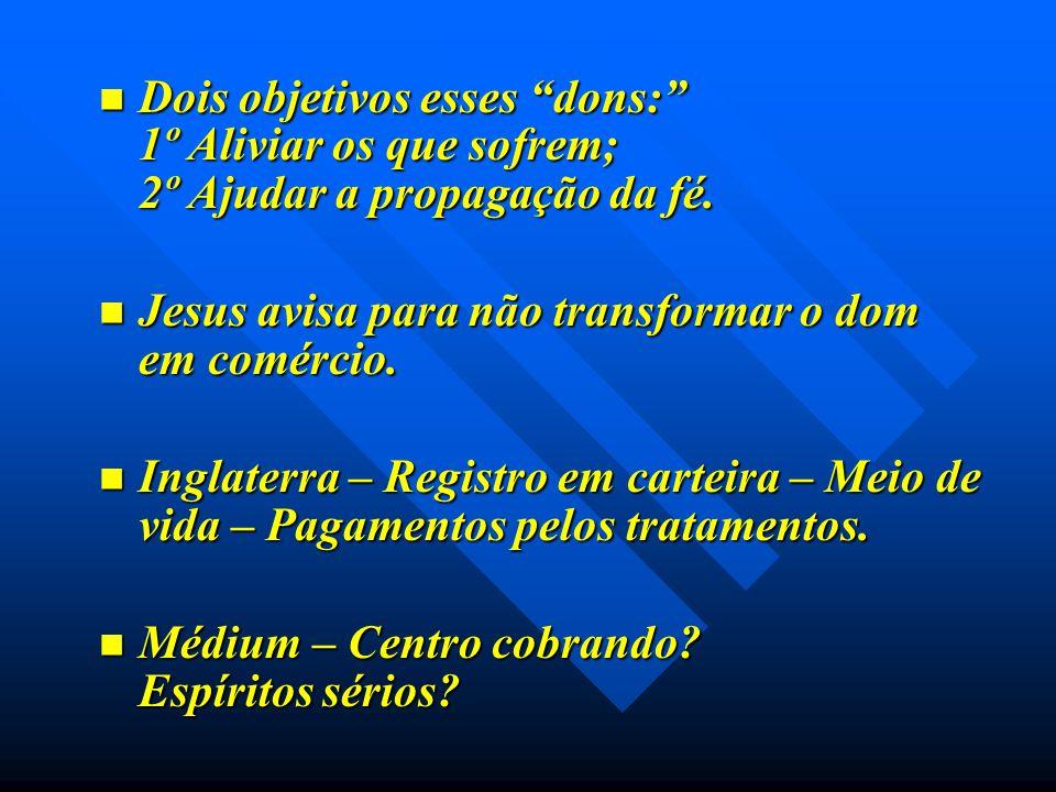 Jesus avisa para não transformar o dom em comércio.