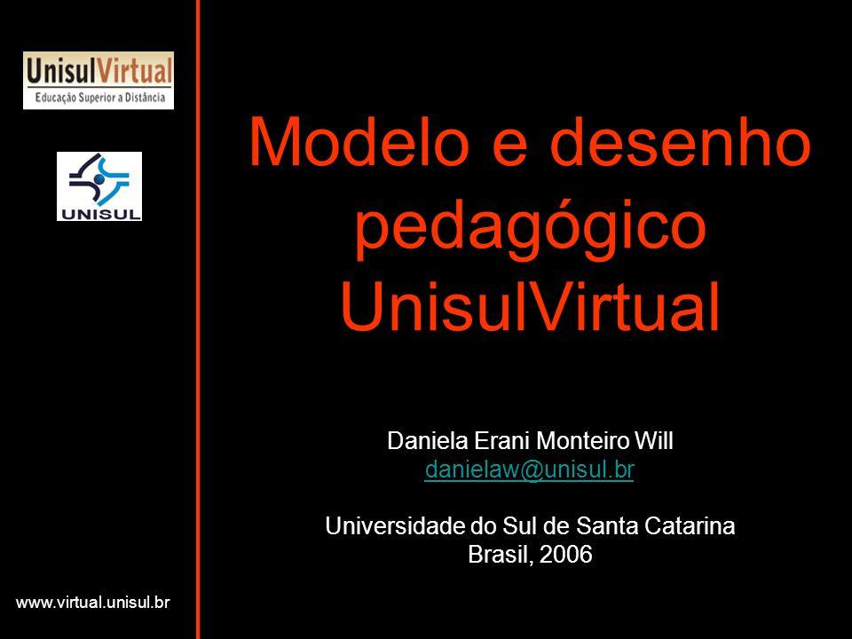 Modelo e desenho pedagógico UnisulVirtual