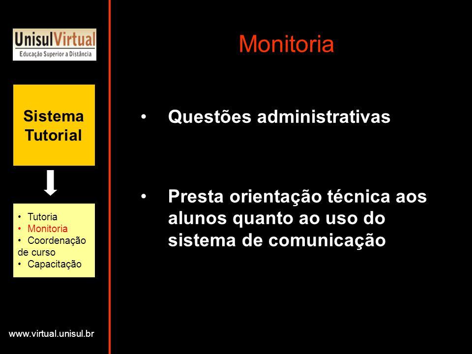 Monitoria Questões administrativas