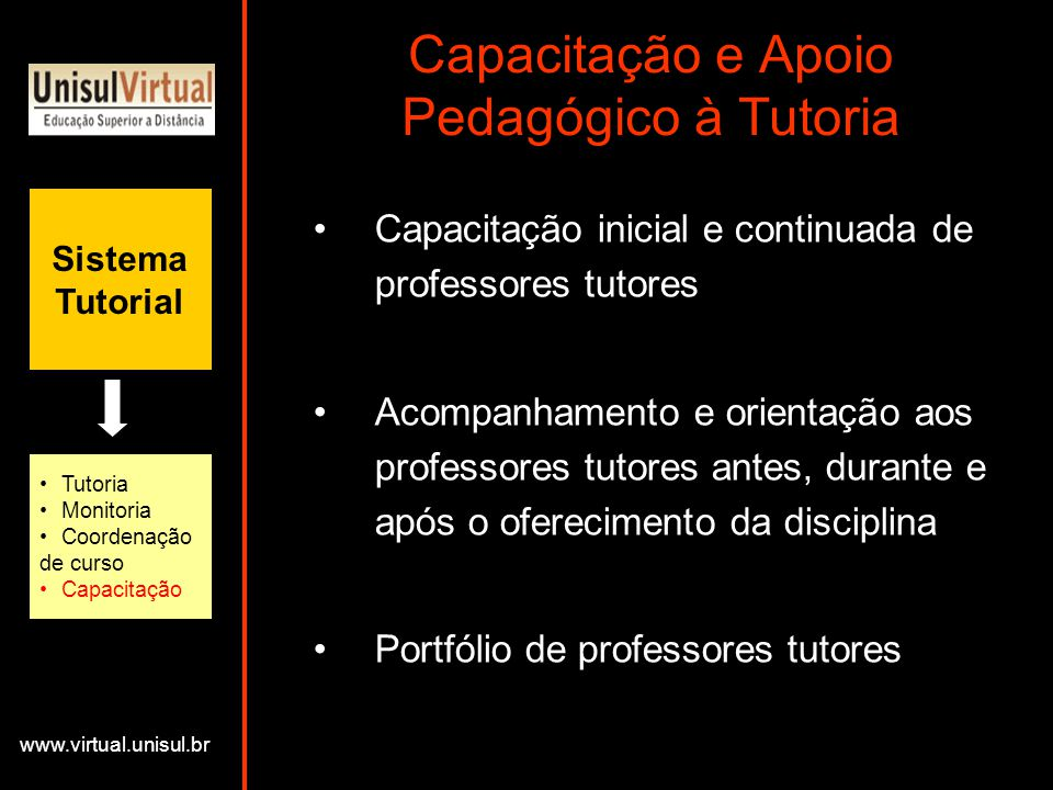Capacitação e Apoio Pedagógico à Tutoria