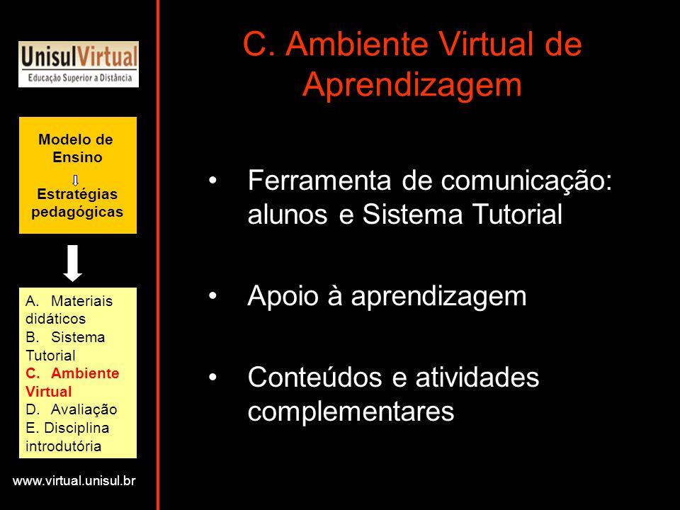 C. Ambiente Virtual de Aprendizagem