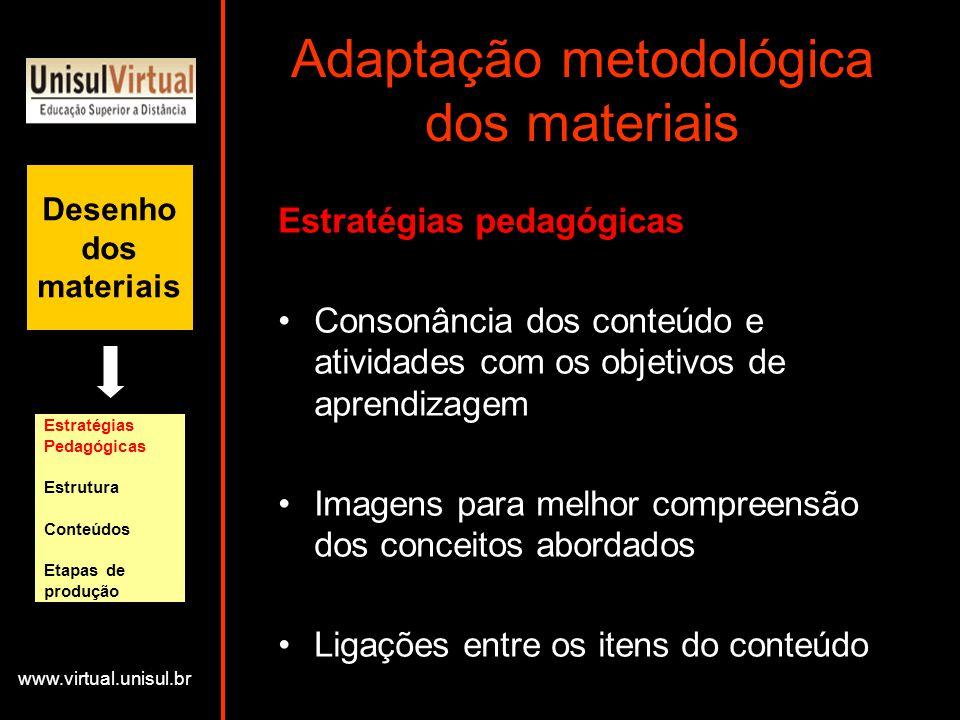 Adaptação metodológica dos materiais