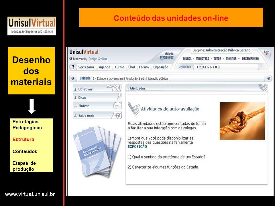 Conteúdo das unidades on-line