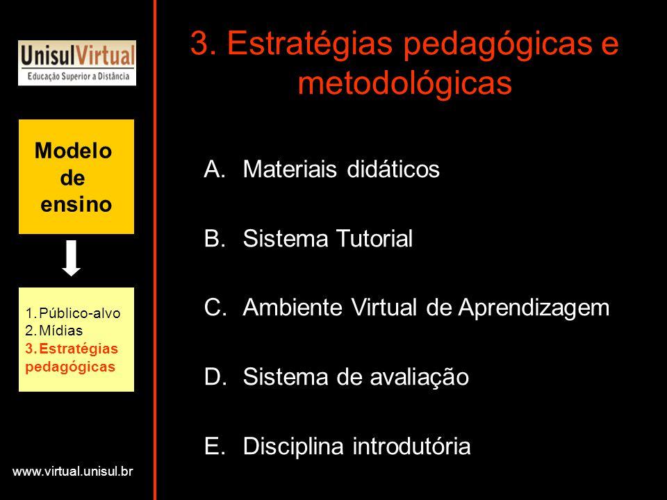 3. Estratégias pedagógicas e metodológicas