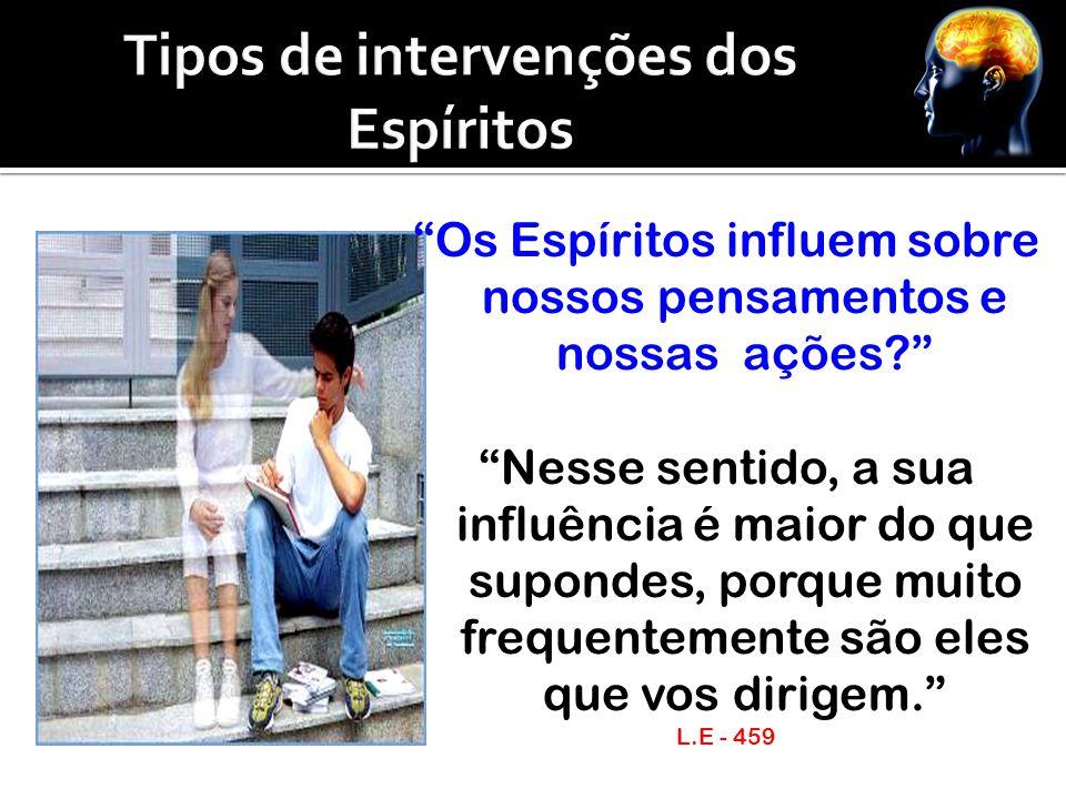 Tipos de intervenções dos Espíritos