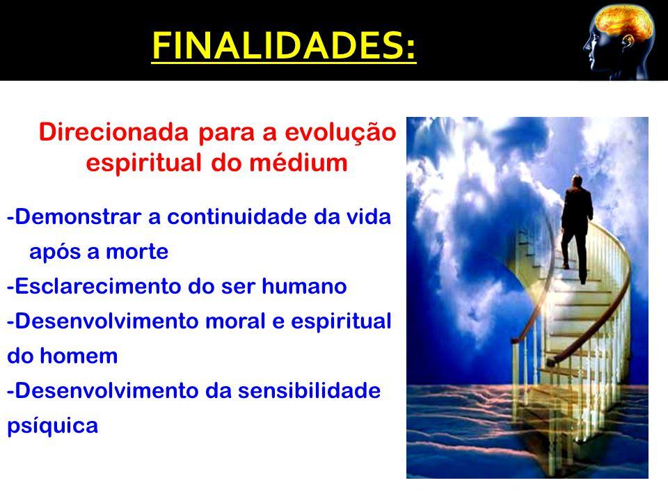 Direcionada para a evolução espiritual do médium