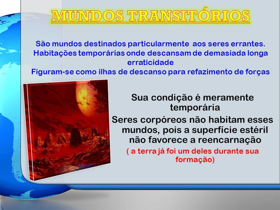 MUNDOS TRANSITÓRIOS Sua condição é meramente temporária