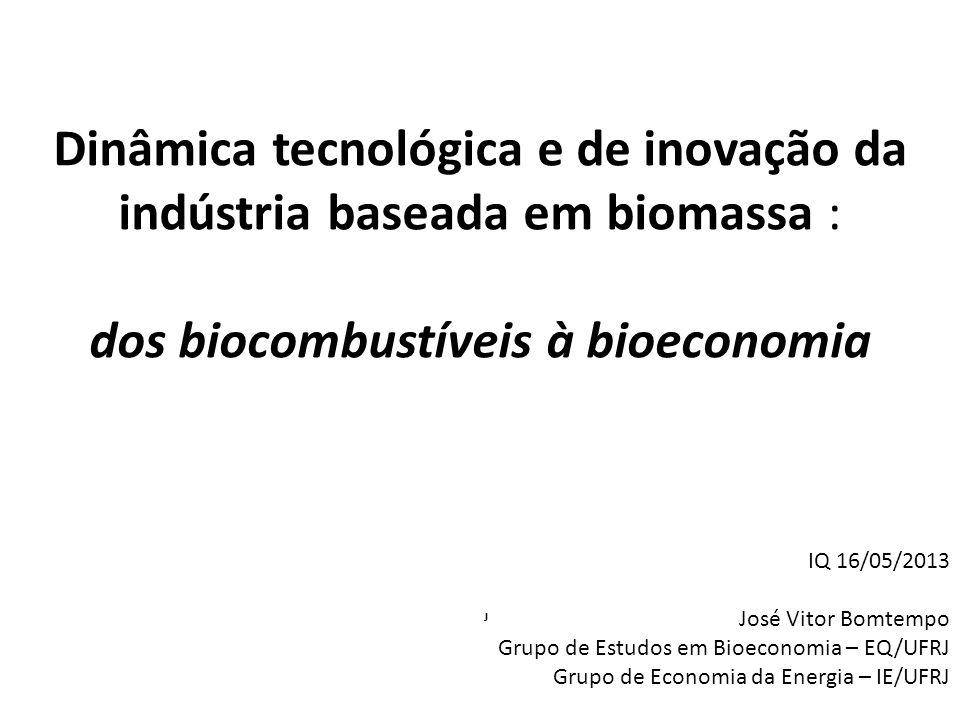 Dinâmica tecnológica e de inovação da indústria baseada em biomassa : dos biocombustíveis à bioeconomia J