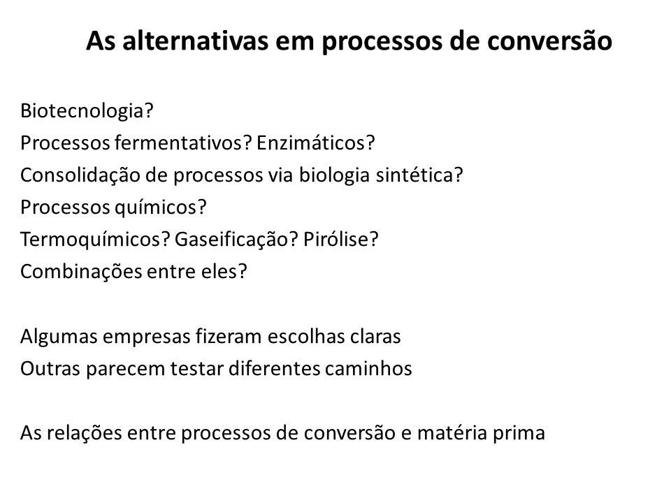 As alternativas em processos de conversão